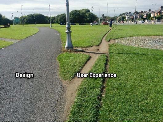 Design vs User Experience  #webdesign #ux #humor #UI #Design #SXSW #SXSW2015 #SXSWInteractive #SXSWi http://t.co/w2fI2HToFN