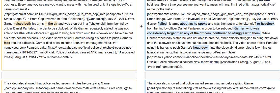 Wikipedia edits softening police brutality-related pages traced to NYPD IP addresses http://t.co/Nmd2fHSrnh http://t.co/R2cvS4aFok