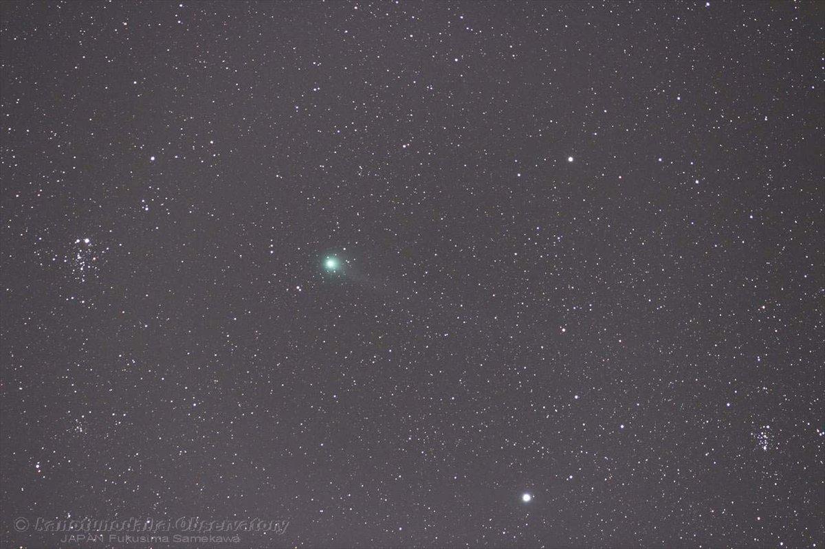 ラブジョイ彗星とカシオペアδ星付近の星団(2015/03/12)
