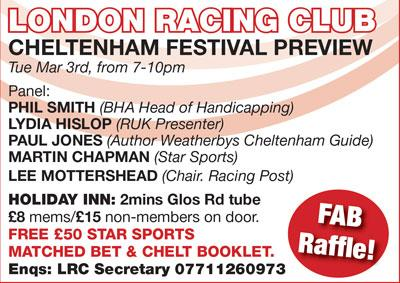 LRC Cheltenham Preview Night - can't wait!!