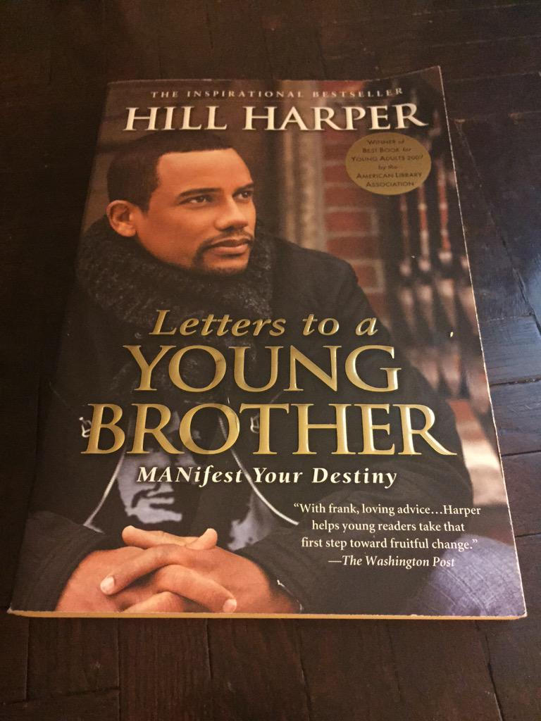 Awesome book for young men. Shout out to @hillharper for this powerful piece of written mentorship! ✊ http://t.co/jr981ANujV