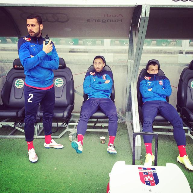 Ivanovski watched from the bench