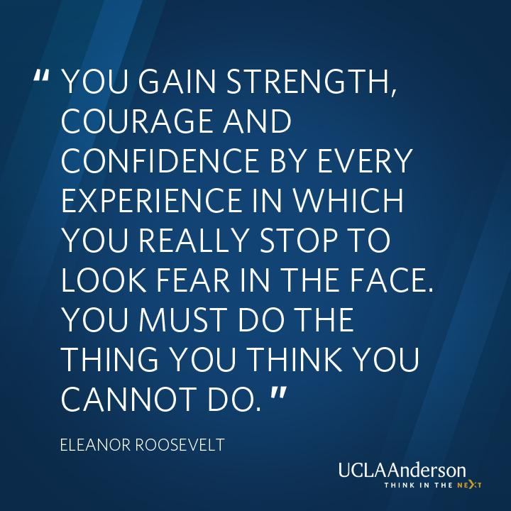 Activist & Former First Lady Eleanor Roosevelt on facing fear and challenges head on. #WomensHistoryMonth #courage http://t.co/jQCIVQAOqj