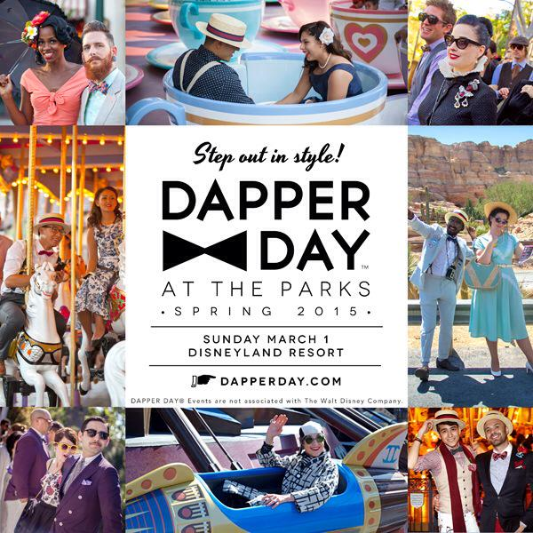 """Dress to impress for """"DAPPER DAY at the Parks"""" TODAY Sunday March 1 @ Disneyland Resort! http://t.co/9V8XFq4dQz http://t.co/BaXSKl0YkN"""