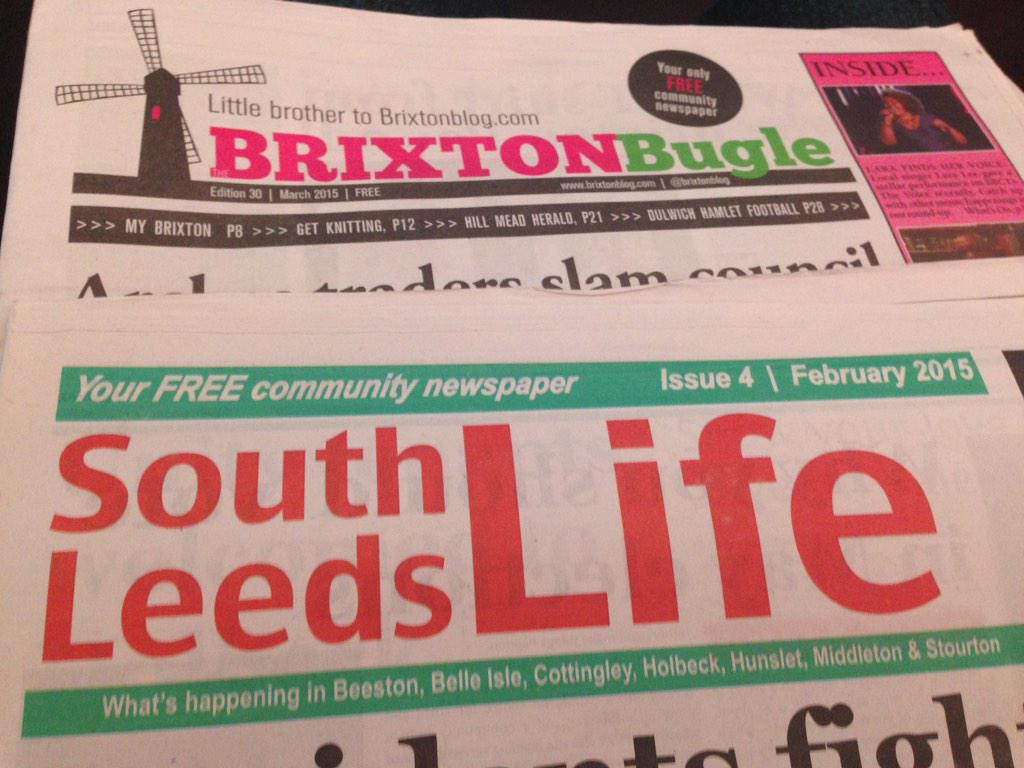 Came back with a couple of great #hyperlocal newspapers from #tal15 http://t.co/Vv81pLJZAb