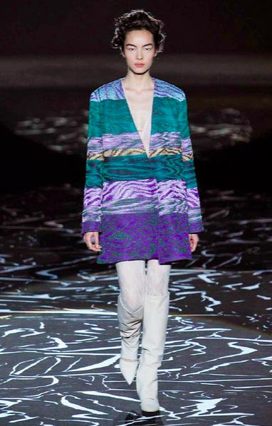751c5c416dd7 angela missoni updates her family s densely woven lineage in glittering  zigzags for aw15. Share