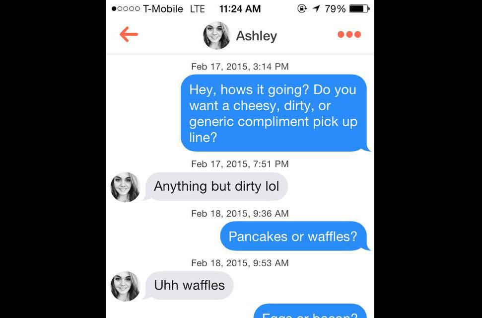 dirty tinder pick up lines for guys