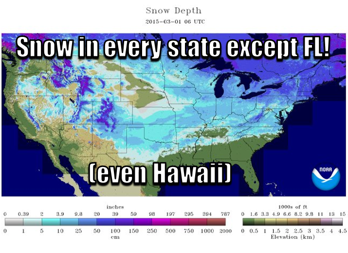 On this first day of meteorological spring, there is snow in every state but one http://t.co/jrwRzBxXn0