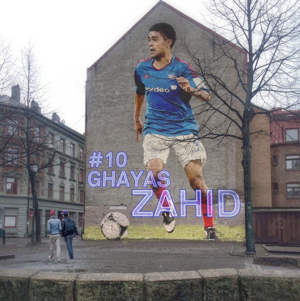 Noen har gjort stas på Ghayas Zahid på Grønland. #VIF #viffotball @ValerengaOslo http://t.co/ahzQPWmlBA