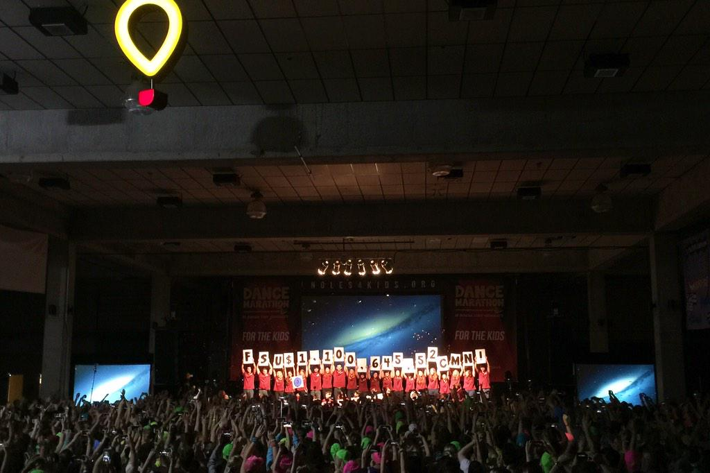 For the first time in 20 years, we have raised over ONE MILLION DOLLARS FOR THE KIDS! #FTK #DMFSU2015 http://t.co/3cpY5AMkCd