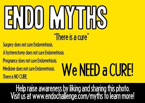 #EndometriosisAwarenessWeek Please share & RT!! #EndoMyths #EndoAwarenessMonth2015 #endometriosis http://t.co/E3uVEmR6Z1