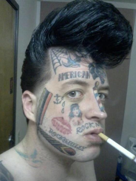 Mark Agee On Twitter The Rockabilly Face Tattoo Is For If Hes In