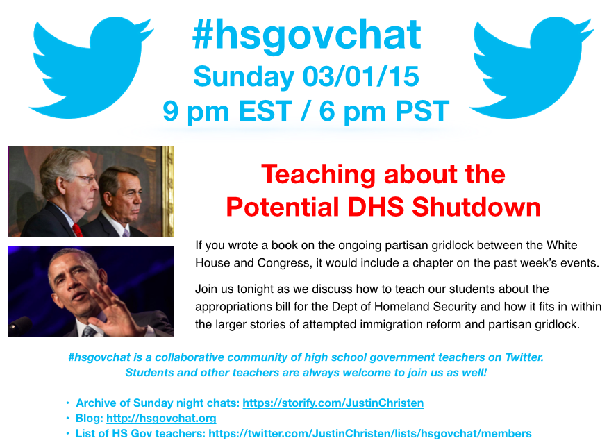 Thumbnail for #hsgovchat (03/01/15): Potential DHS Shutdown