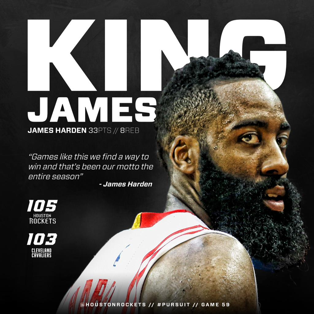 """Houston Rockets on Twitter: """"Long live the new King. Highlights, photos, recap & reactions from today's big OT win on http://t.co/VBY18eSOmU. ..."""