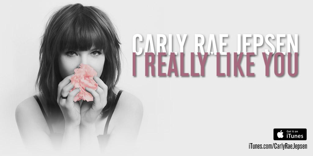 Excited to share with you all my brand new single #IReallyLikeYou! Available on iTunes here: http://t.co/3MbBjxbWax http://t.co/g9QbalWOfM