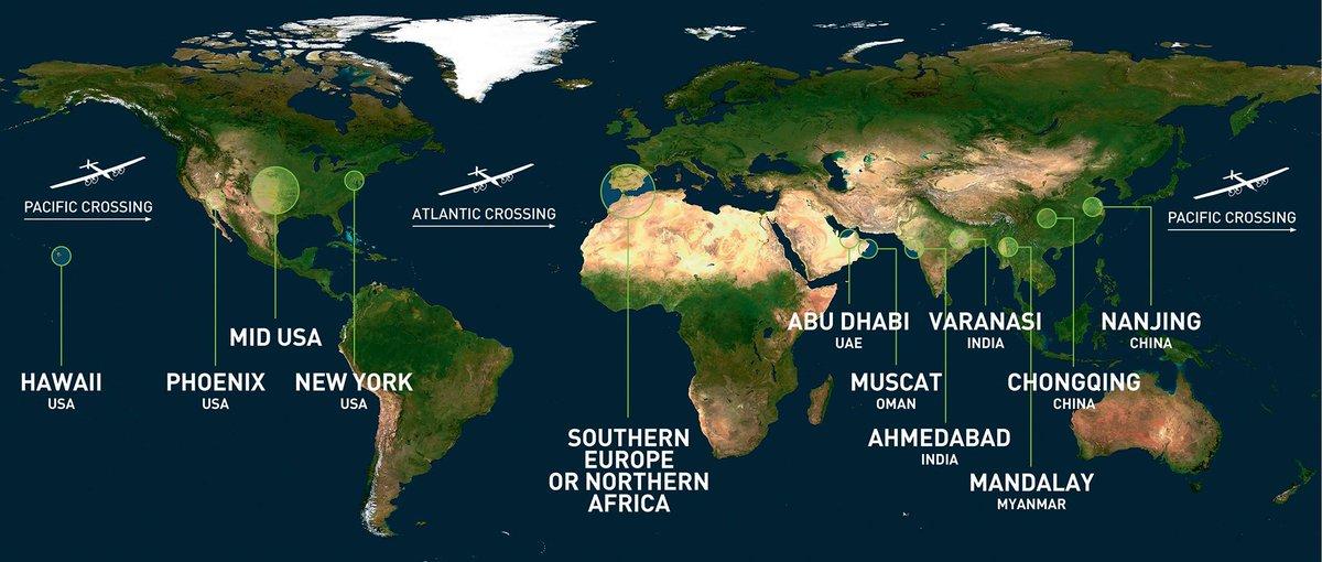 La mappa del viaggio intorno al mondo