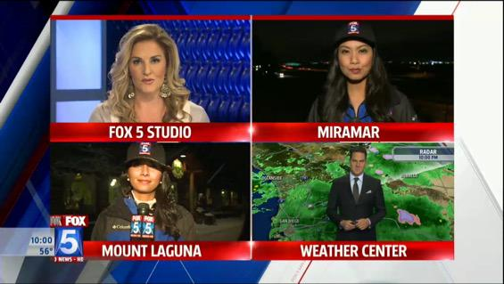 Watching the storm coverage @fox5sandiego with @Mishadibono http://t.co/ORh0lJzpTi