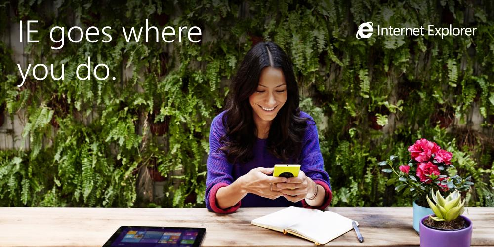 Wherever you are, IE is the ideal way to play games, read, watch videos and more. http://t.co/wRHvpLWg3j