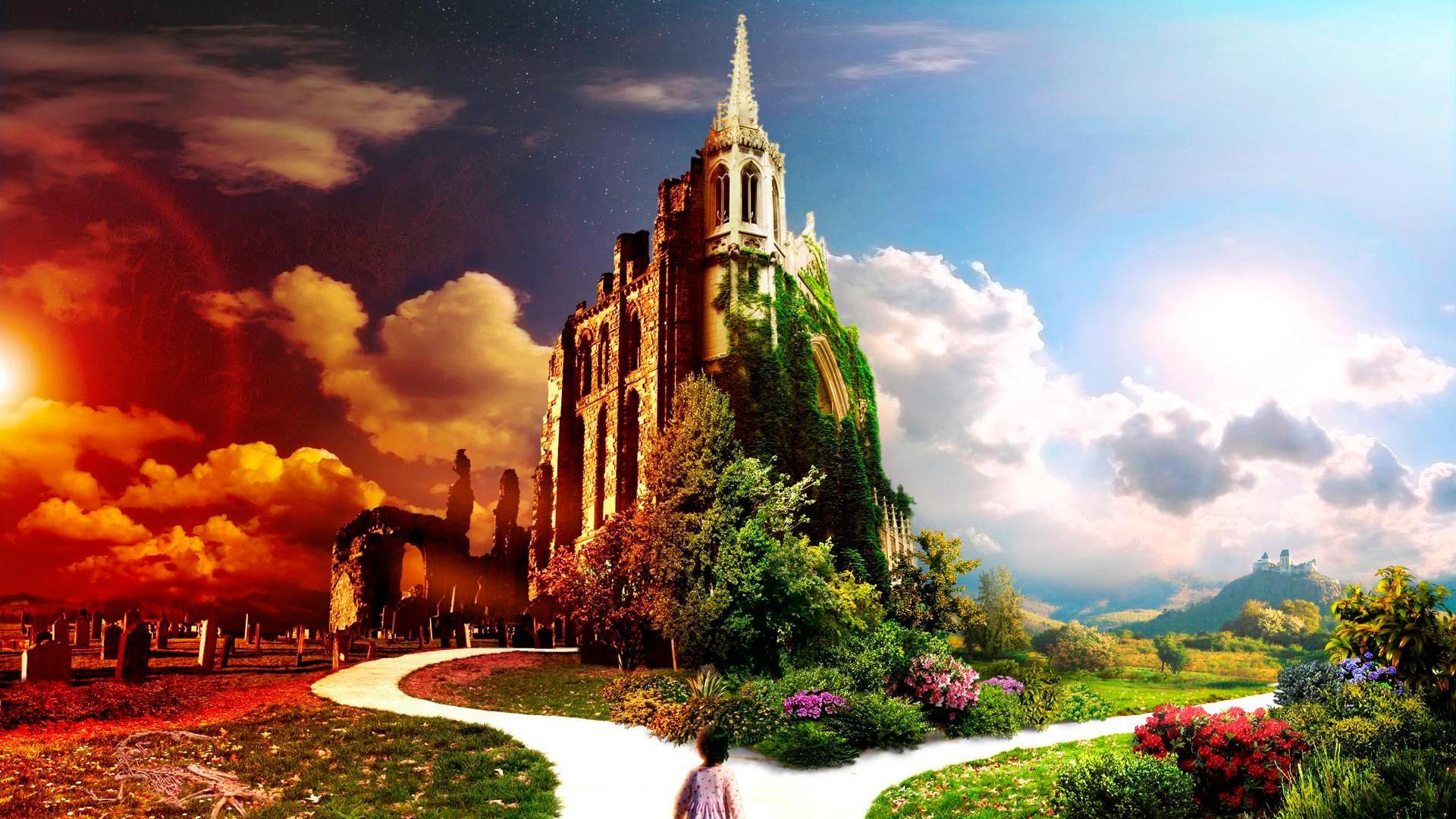 фотообои божие небесные города изготовлению