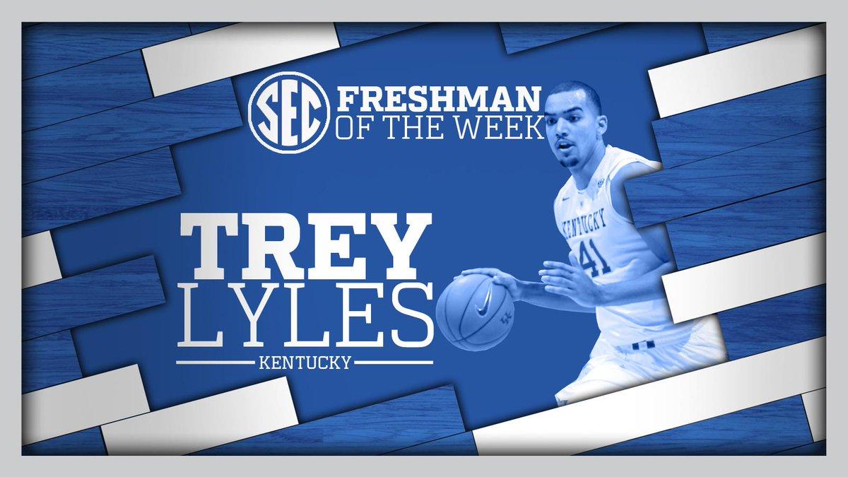 Kentucky Basketball Fox Named Sec Freshman Of The Week: Trey Lyles Named SEC Freshman Of The Week