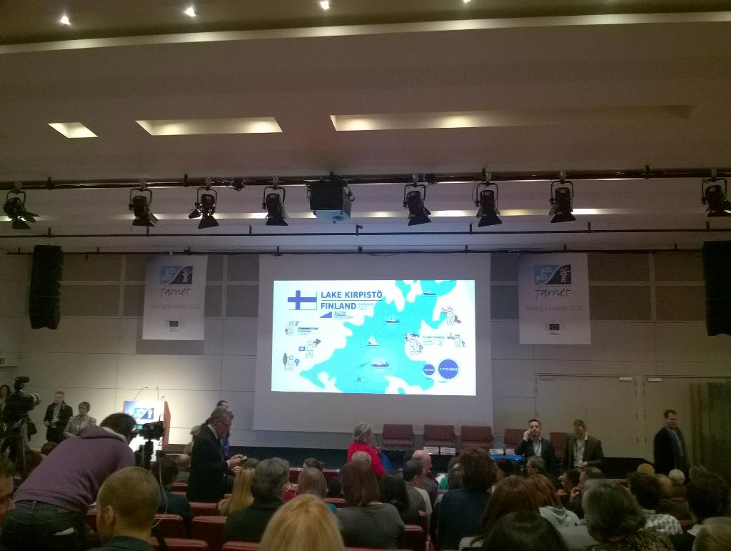 It looks promising, conference about to start. #sailing2020 #FLAGPastravarii http://t.co/lQHPZ7yTGx