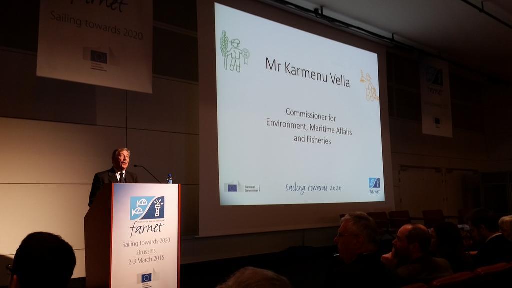 Karmenu Vella is opening #Sailing2020 event @EU_FARNET about local development in coastal communities http://t.co/ZhzfY3Vcz3