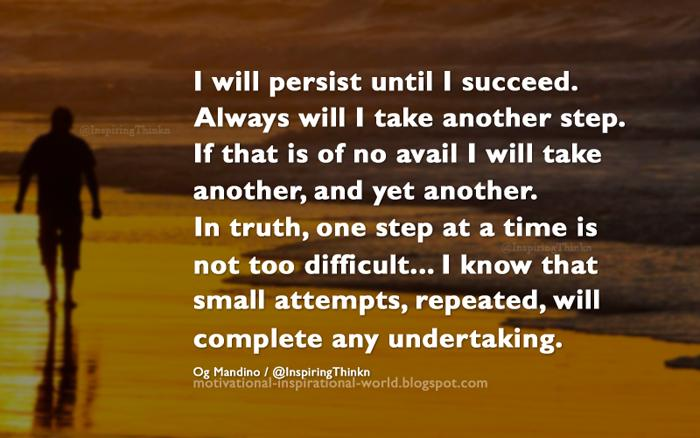 i will persist until i succeed by og mandino