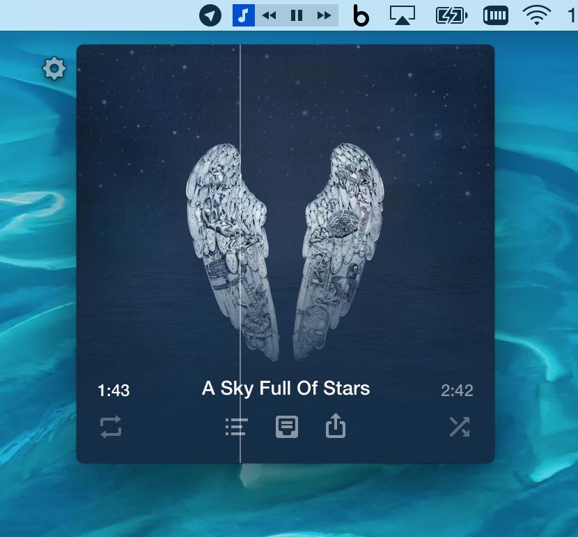 Muzzy puts an iTunes companion in your menu bar