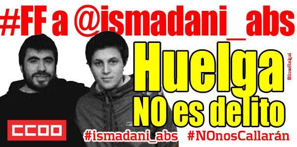 ISMA y DANI se enfrentan a casi 9 años de prisión ABSOLUCIÓN YA!!! #HuelgaNOesDelito #NOnosCallarán ► #ismadani_abs http://t.co/dDZ1P1VnSz
