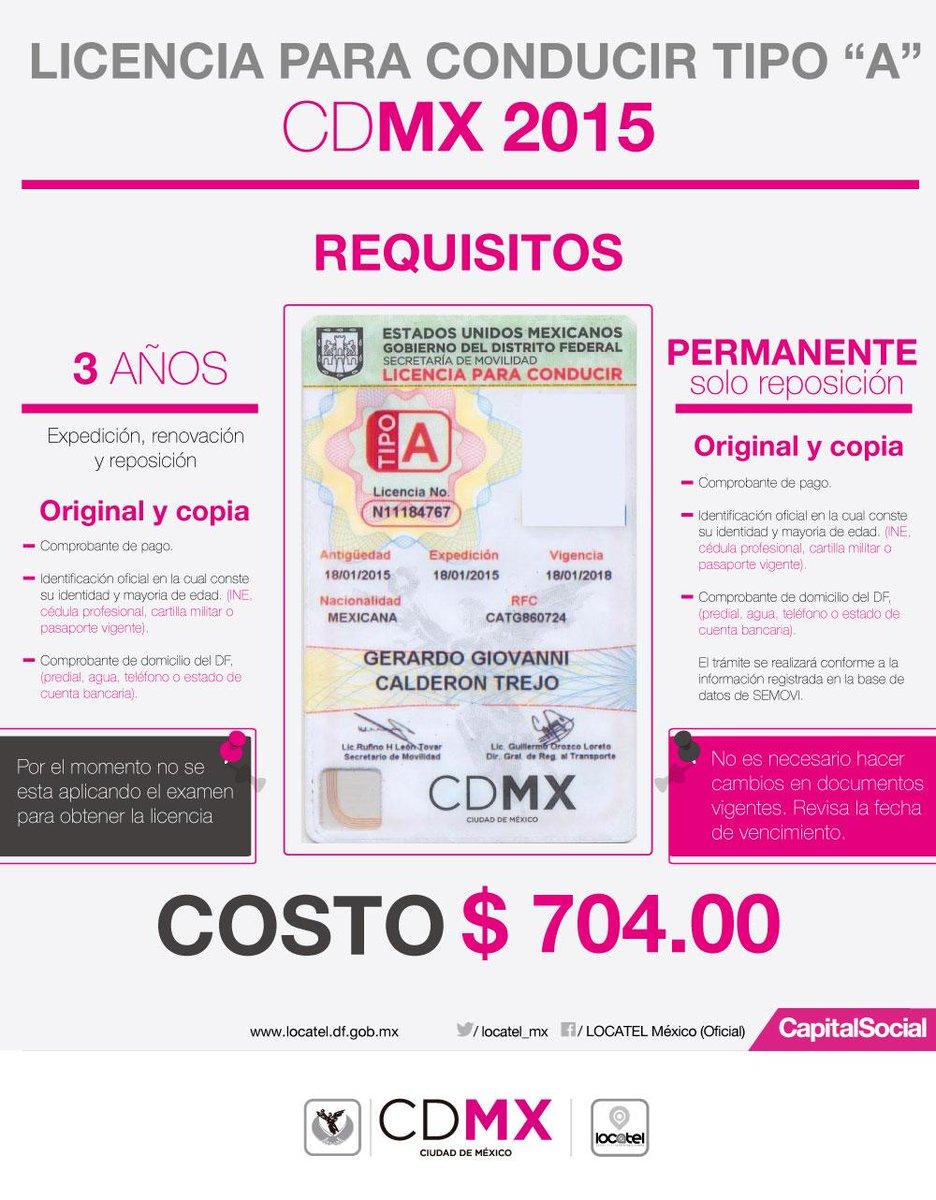 Licencia de conducir cdmx