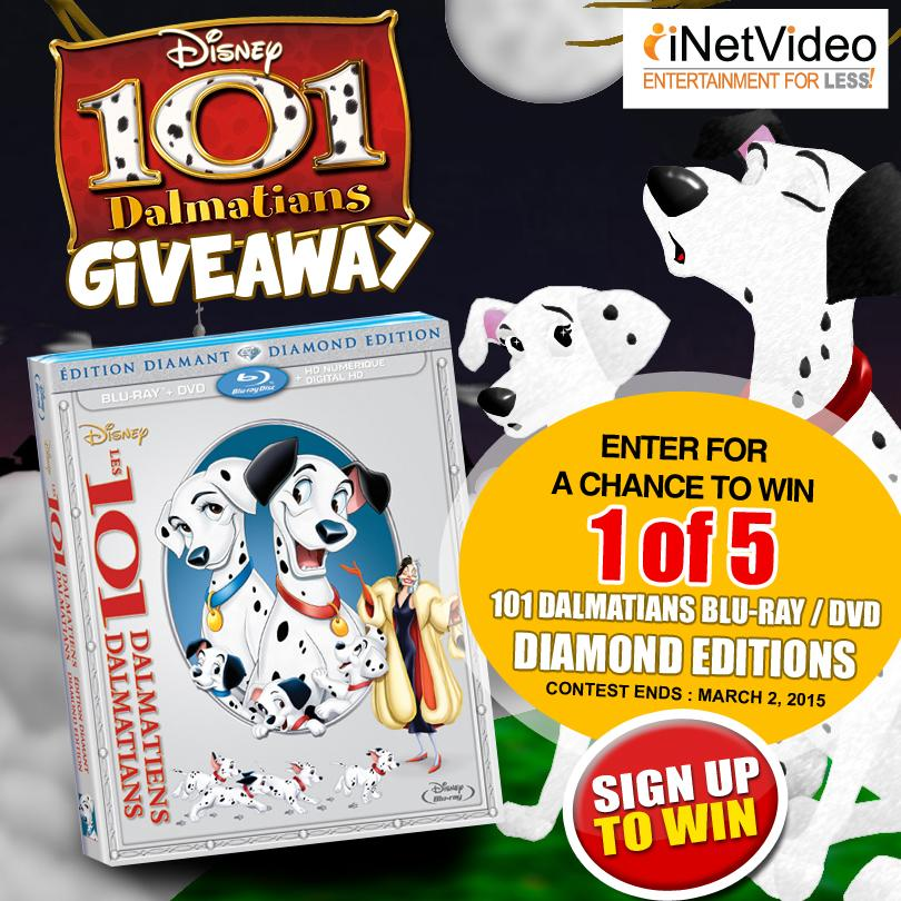 "Win 1 of 5 ""101 Dalmations"" Blu-ray/DVD http://t.co/ZebZmzJ1p4 #disney #contest #allfilm #kedwinfizz http://t.co/lpddN2Km2U"