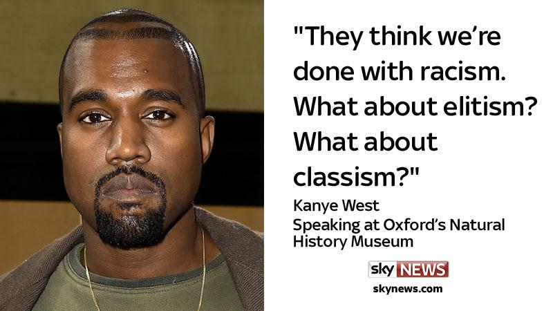 Sky News On Twitter Rapper Kanye West Has Given A Talk At