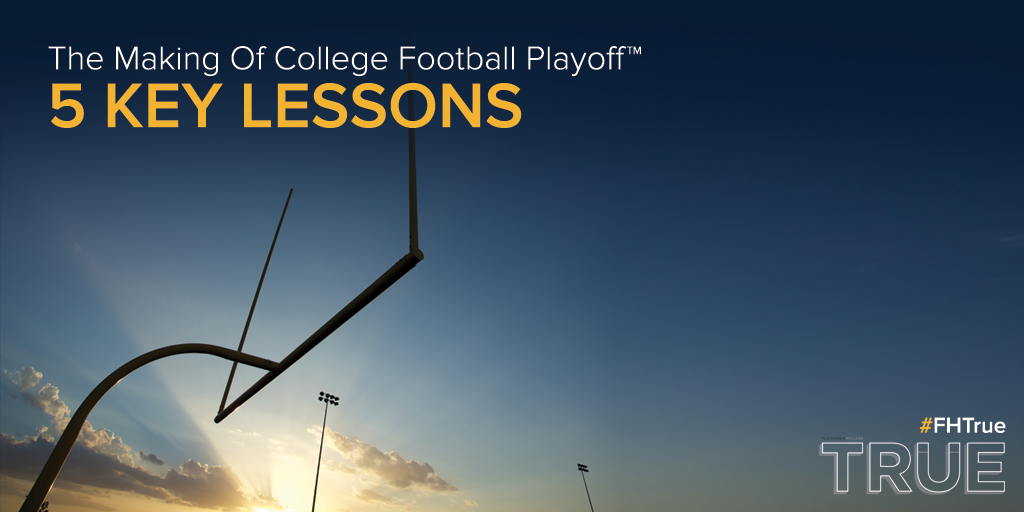 What made college football's postseason move to #CFBPlayoff a success? @rmgoff shares: http://t.co/pQt7mRXnty #FHTrue http://t.co/DDO8KjEjeQ