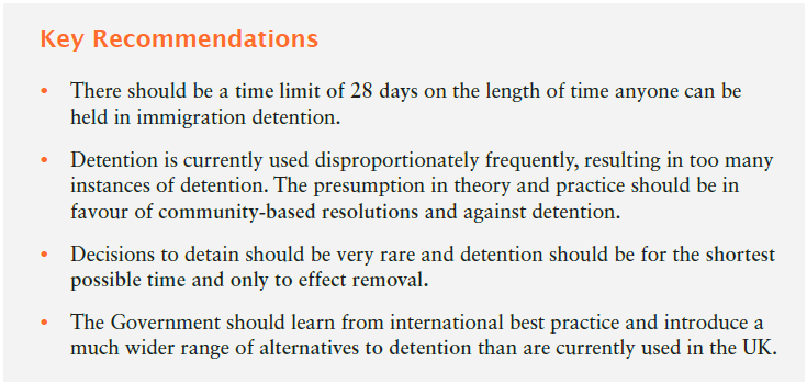 The #DetentionInquiry report has today been published. There are the key recommendations: http://t.co/lvaaIVRZqa http://t.co/DNjz1V3ZIc