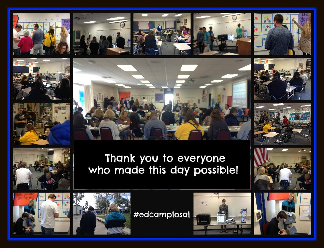 Thank you to everyone who attended #edcamplosal ! See you at the next #edcamp ! http://t.co/IXaCZvfwfA