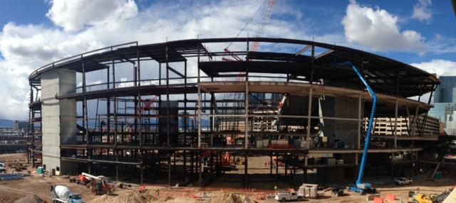Our neighbor, the Las Vegas Arena, is coming along quite swiftly! #LasVegasArena #NYNYVegas #excitingthingstocome http://t.co/ZyUuLxd2HH