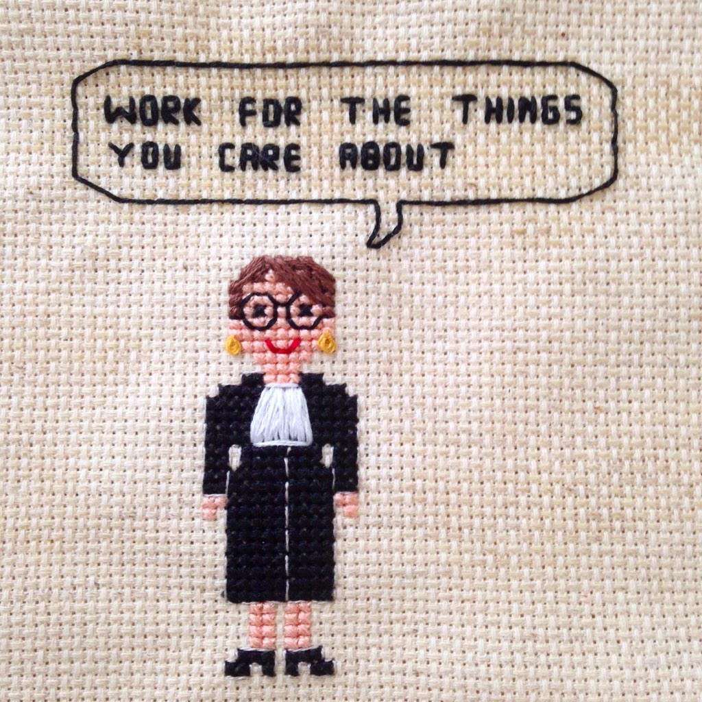 To kick off #WomensHistoryMonth I'm working on some 8bit lady heroes. Starting w #notoriousrbg #SCOTUS http://t.co/CIVrVmhMfg