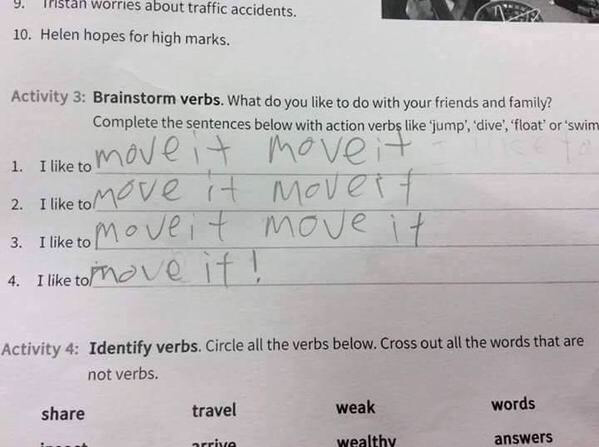 Give this Kid an A+ ... #English #Test