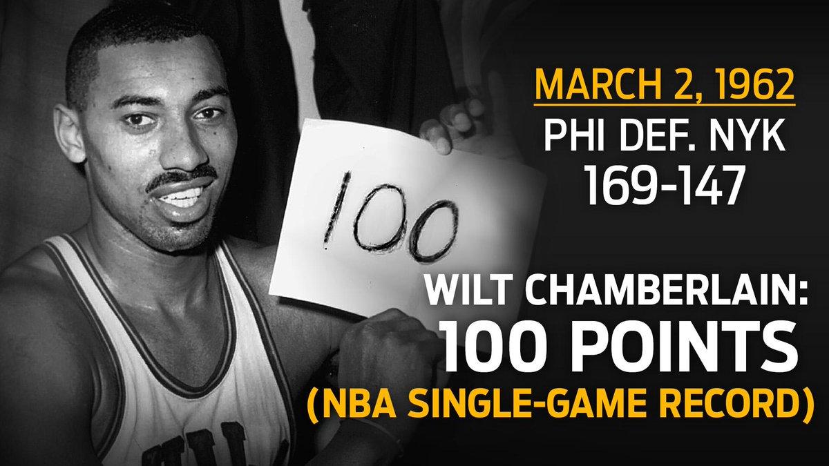 Resultado de imagem para wilt chamberlain 100 point game