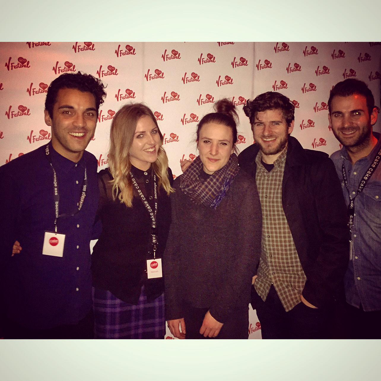 Here's a lovely picture of the Cake team officially launching the 2015 @VFestival at Mahiki last night... http://t.co/mFzbDIOsjb
