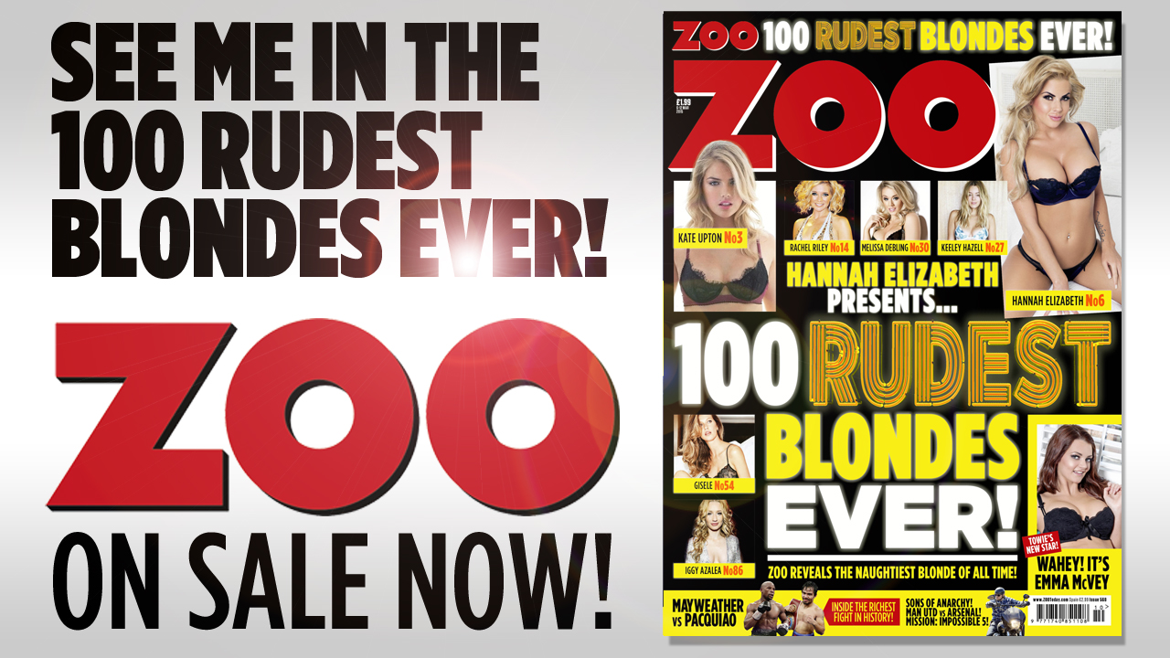 RT @ZOO: @Aisleyne1 You're in this week's new ZOO, out now! Retweet and let your followers know: http://t.co/JN8AytArek http://t.co/P91E94b…