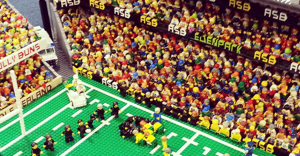 LEGO replica of Eden Park.