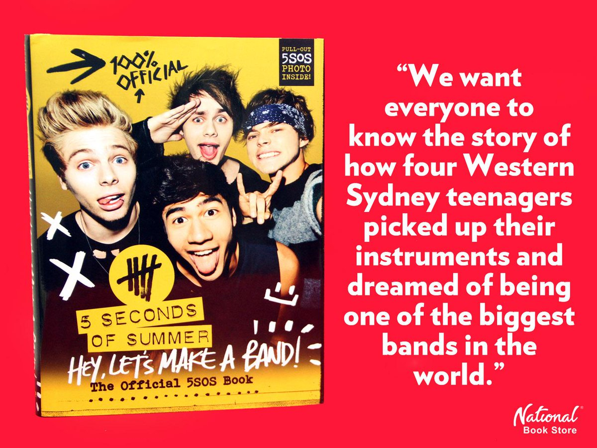 National book store on twitter nbsfinds hey let s make a band the official 5sos book by 5sos hardcover p895 http t co gbbgjnri7u