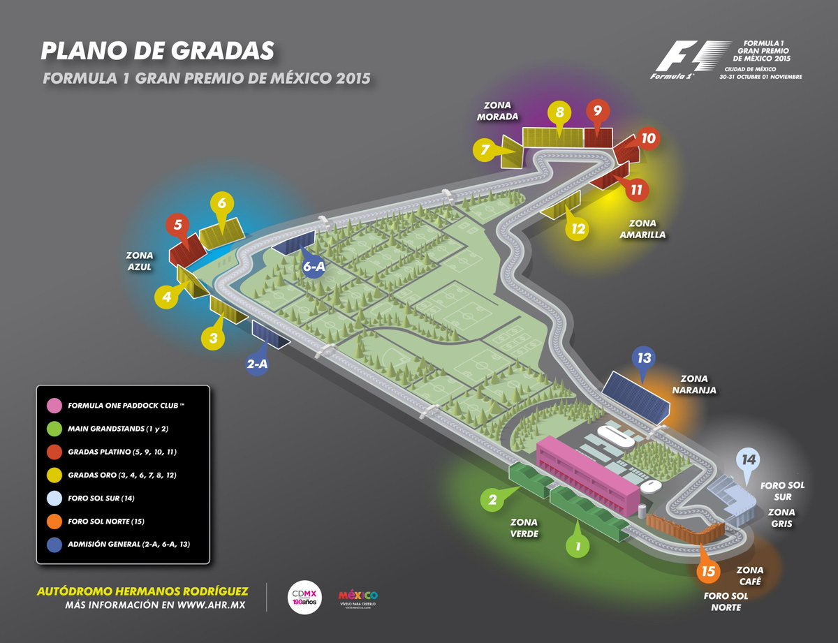 Mexico grand prix on twitter les compartimos el mapa for Puerta 7 foro sol