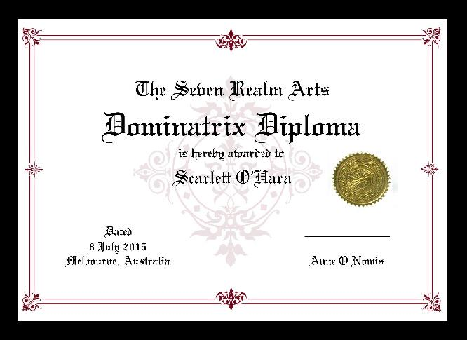 anne o nomis on seven realm arts dominatrix diploma  anne o nomis on seven realm arts dominatrix diploma course begins on 1st 2015 at passionfruitaus t co majei58mhj