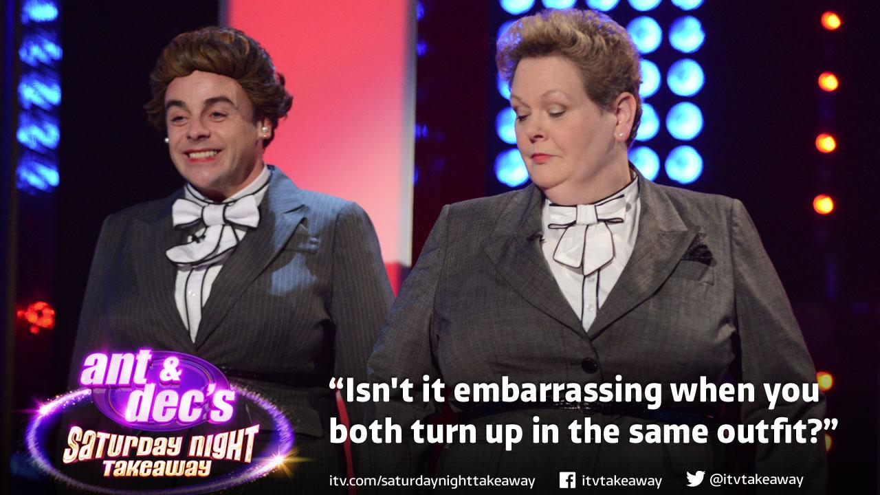 RT @itvtakeaway: Move over @AntandDec, it's all about Ant and Anne going forwards... #SaturdayNightTakeaway http://t.co/LuKhvBK1wu