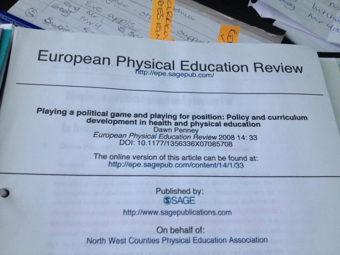 An absolute read for all in PE and the abstract may catch the attention of others. #gtcsPL http://t.co/WlaL5vANVO