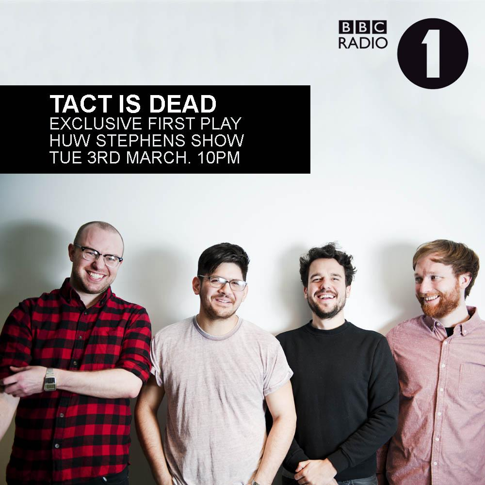 "NEW @tellisontalk single ""Tact is Dead"" premieres TONIGHT on @HuwStephens' @BBCR1 show.10PM sharp! http://t.co/ZUkcSNN4I3"