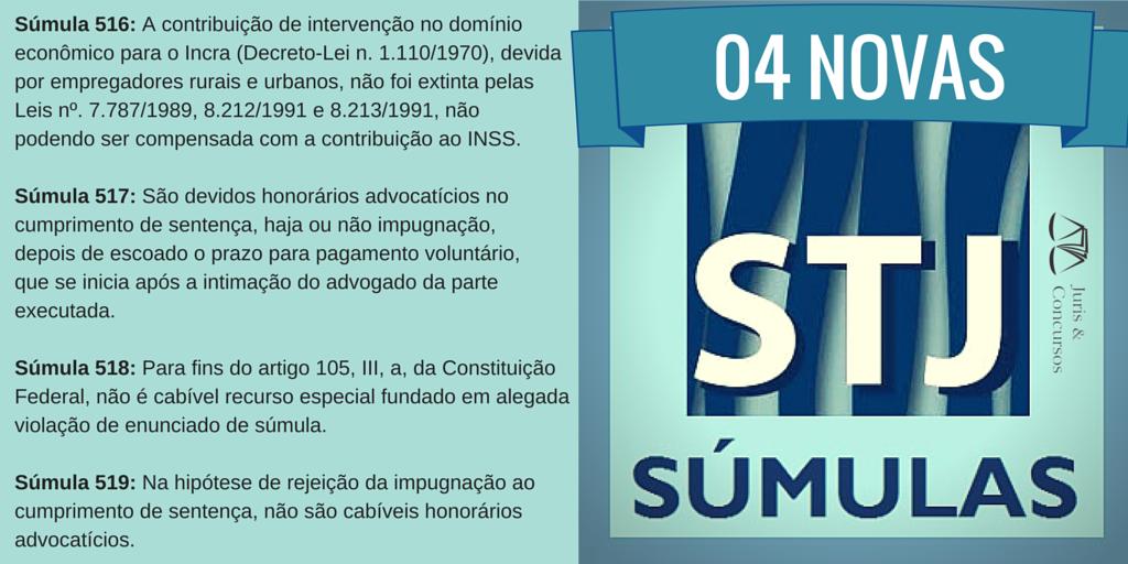 STJ edita 04 NOVAS SÚMULAS – Fique por dentro! http://t.co/jB6uJvTSqx  #sumulasSTJ #concursojuridico http://t.co/ThfBkJZZcQ