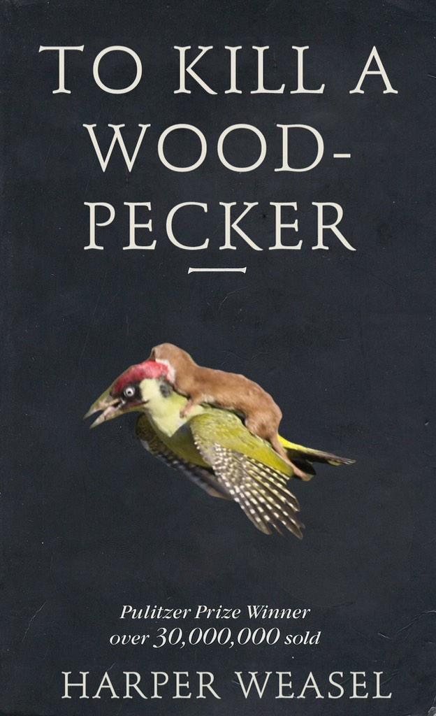 Best photoshop of the day 😂 #WeaselPecker http://t.co/b5kbNwQCuW